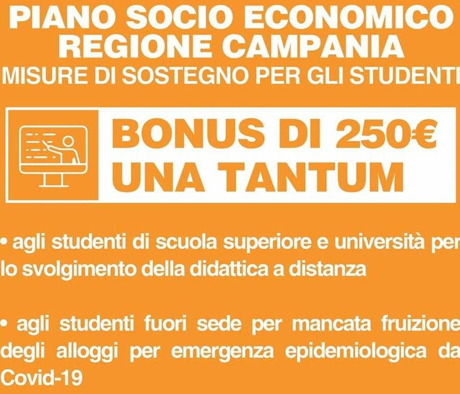 Emergenza COVID-19, BONUS PER GLI STUDENTI UNIVERSITARI