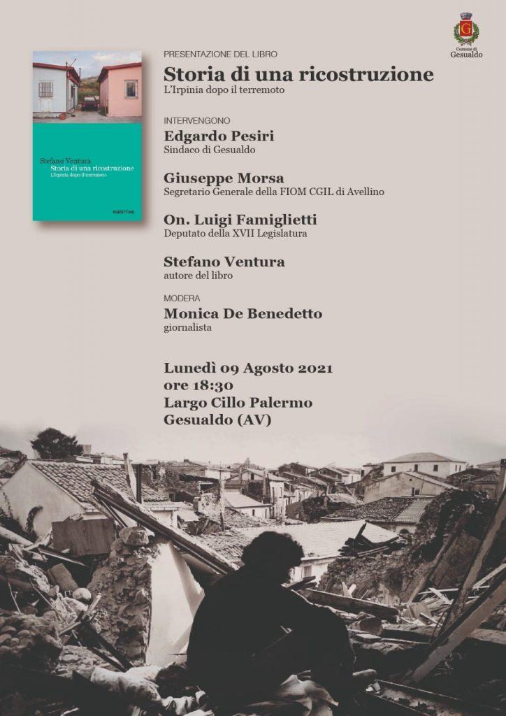 PRESENTAZIONE DEL LIBRO: Storia di una ricostruzione di Stefano Ventura. Lunedi 9 agosto ore 18.30, Piazzetta Cillo Palermo