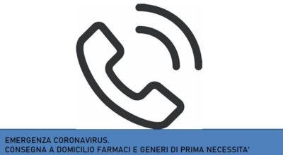 EMERGENZA CORONAVIRUS. Attivato il servizio di consegna a domicilio di farmaci e generi prima necessità.