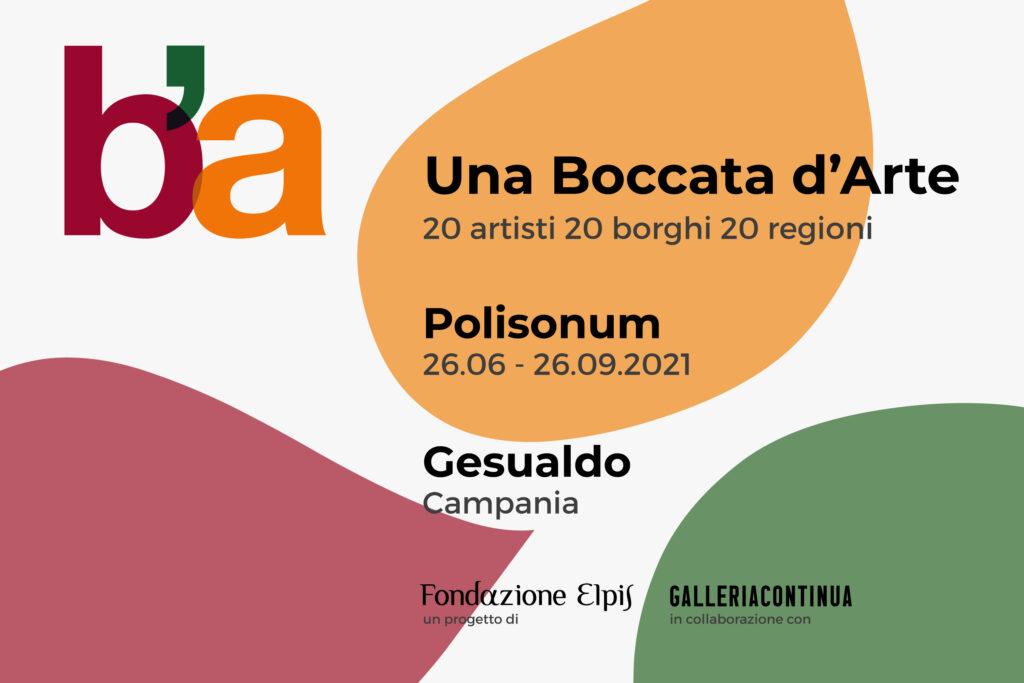 Una Boccata d'Arte. Gesualdo, 26 giugno – 26 Settembre 2021