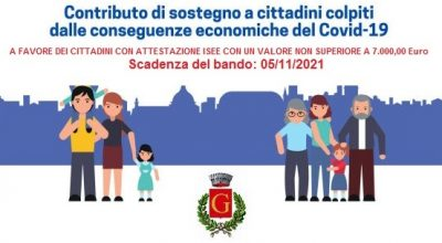 Piano di Sostegno Economico per i nuclei familiari residenti nel territorio di Gesualdo. Scadenza: 05 Novembre 2021